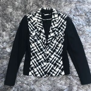 WHBM Black & White Blazer